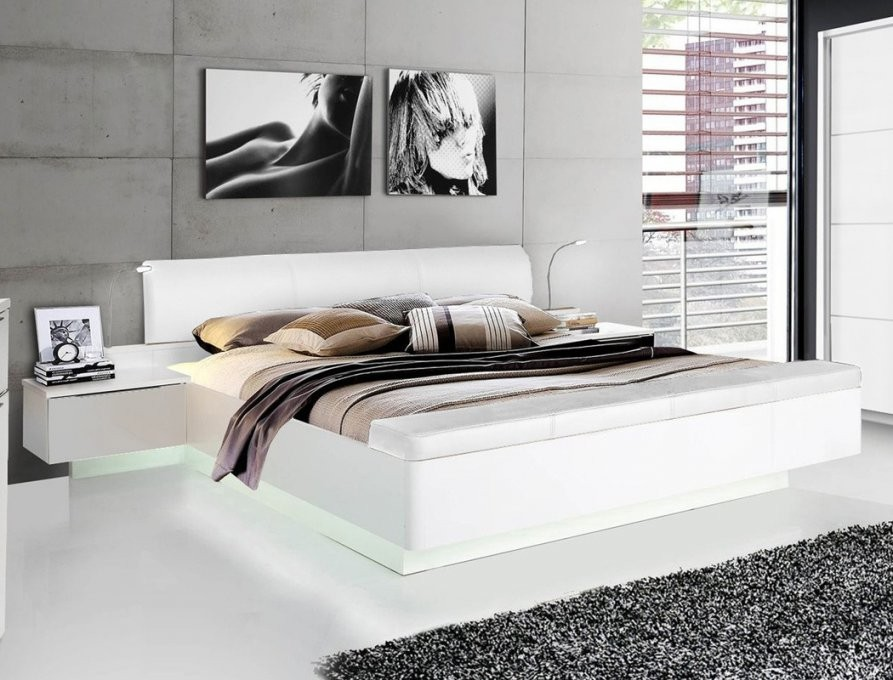 Doppelbett Sophie 1 Weiß Hochglanz 180X200 Ehebett Mit 2X von Bett 180X200 Weiß Hochglanz Photo