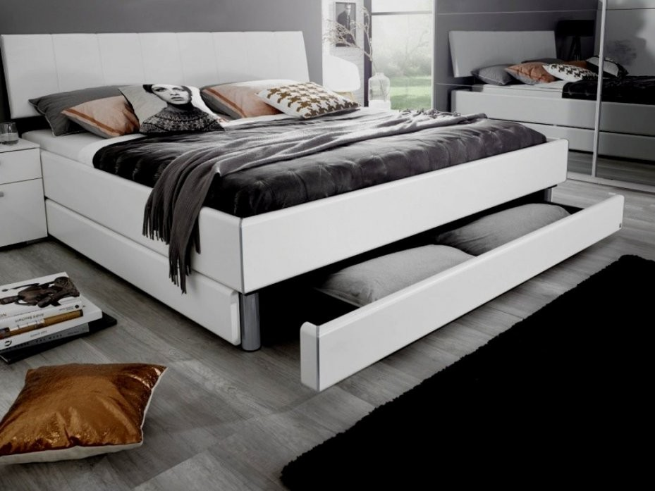 Doppelbett Weis Mit Bettkasten Polsterbett Toni 180X200 Kunstleder von Bett Mit Bettkasten 180X200 Weiß Photo