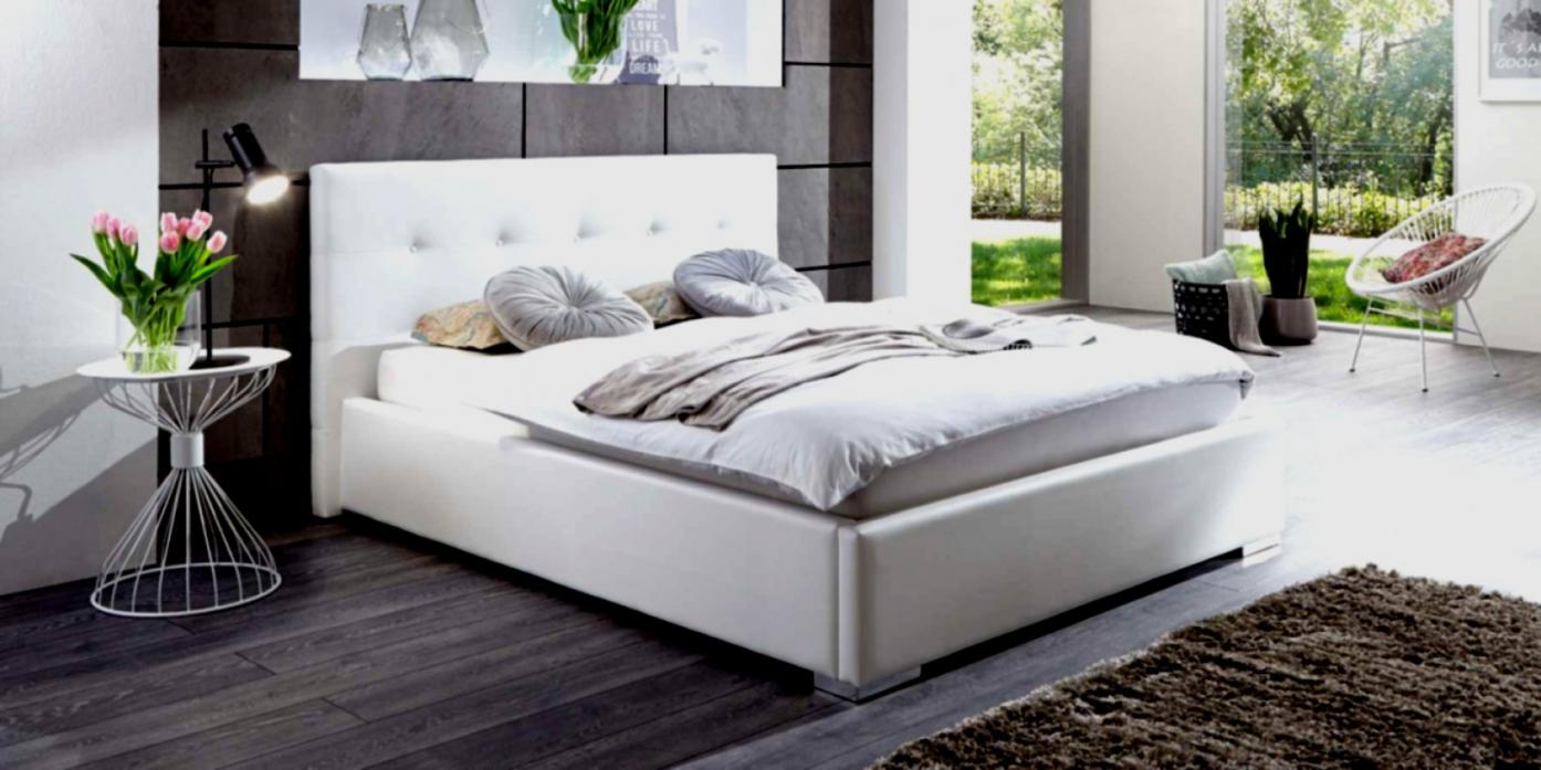 Doppelbett Weis Mit Bettkasten Polsterbett Toni 180X200 Kunstleder von Polsterbett Mit Bettkasten Leder Bild
