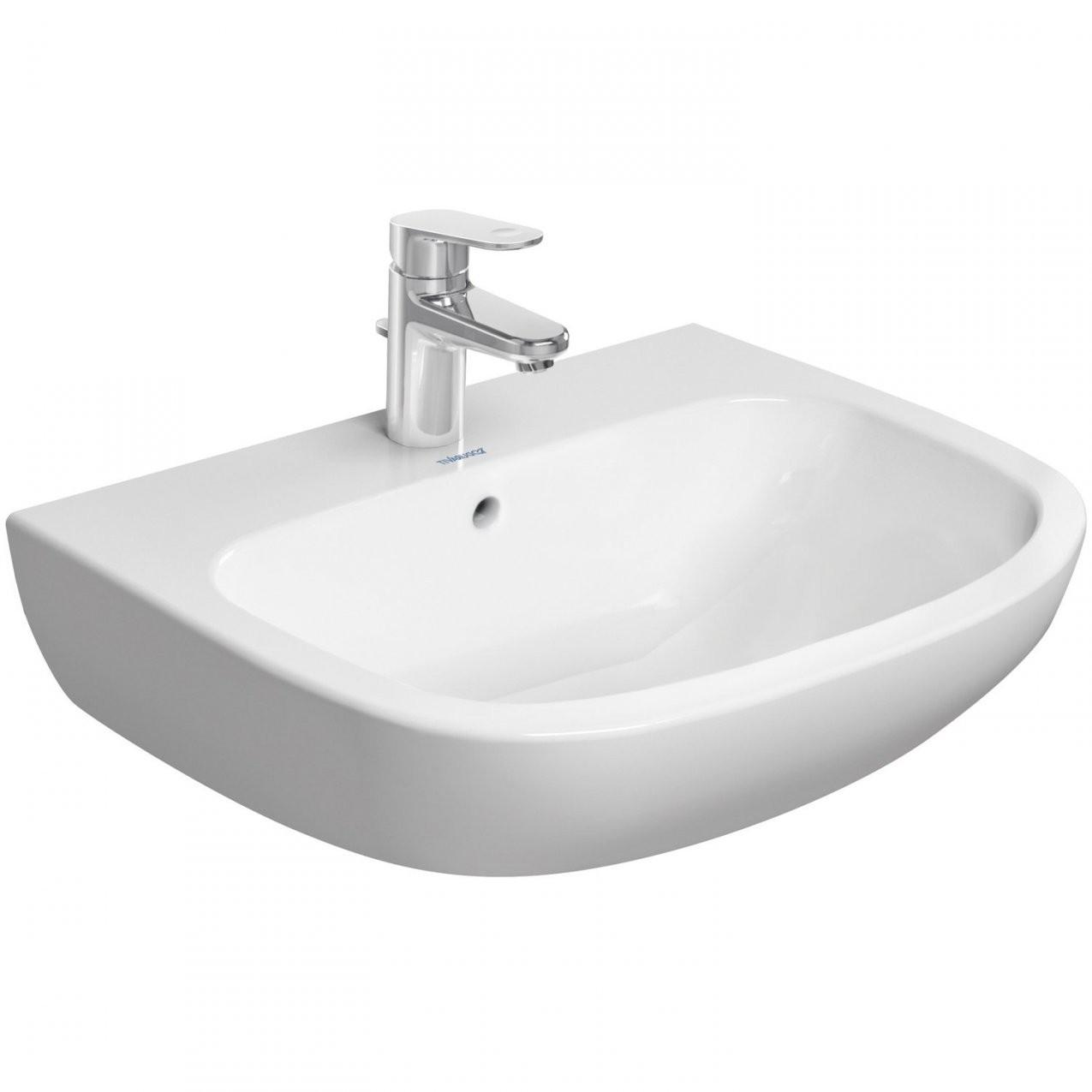 Duravit Standardwaschbecken Dcode 60 Cm Rund Weiß Kaufen Bei Obi von Höhe Waschbecken Bad Bild