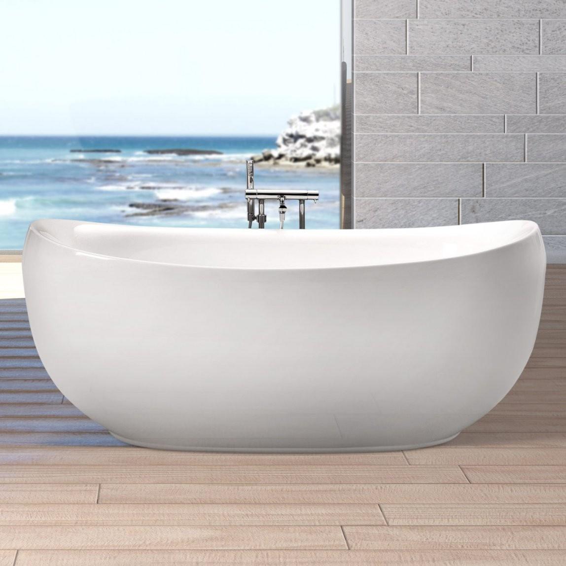 Duschmeister Freistehende Badewanne Lissabon 863801Bw  Duschmeister von Badewanne Freistehend Preis Bild