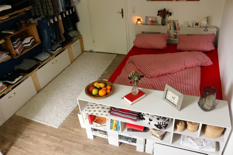 ᐅ Palettenbett Selber Bauen  Anleitungen & Shop ᐅ Europaletten Bett von Paletten Bett 200X200 Bild