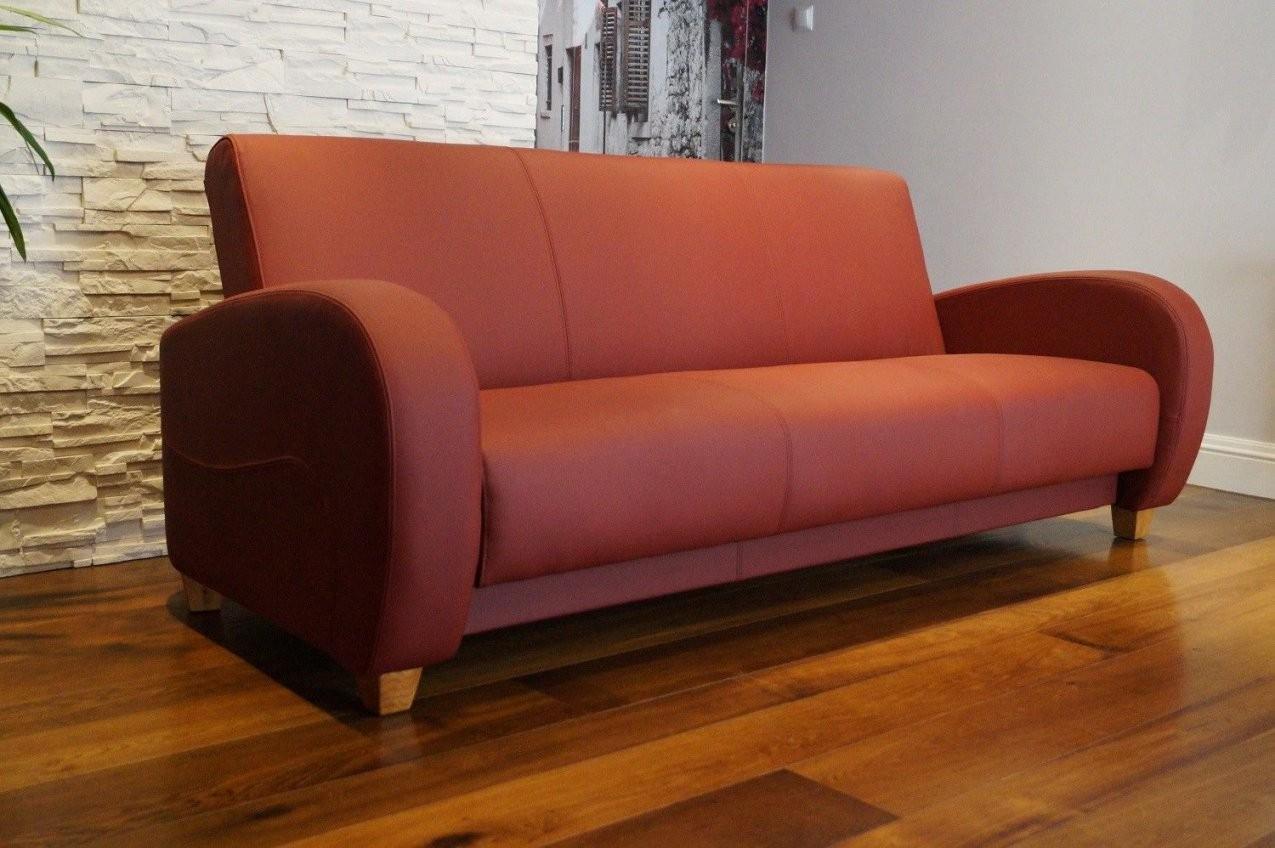 Echtleder 3 Sitzer Couch Schlaffunktion & Bettkasten Echt Leder Sofa von 3 Sitzer Sofa Mit Bettfunktion Bild