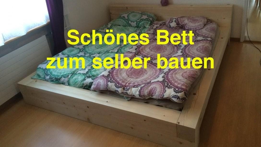 Ein Bett Zum Selber Bauen Lunchvegaz  Youtube von Bett Selber Bauen 180X200 Photo