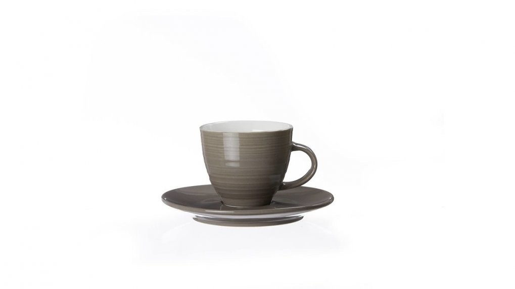 Espressotassenset Suomi Taupefarbenes Porzellan – Vierteilig Lahr von Ritzenhoff Kaffeetassen Set Bild