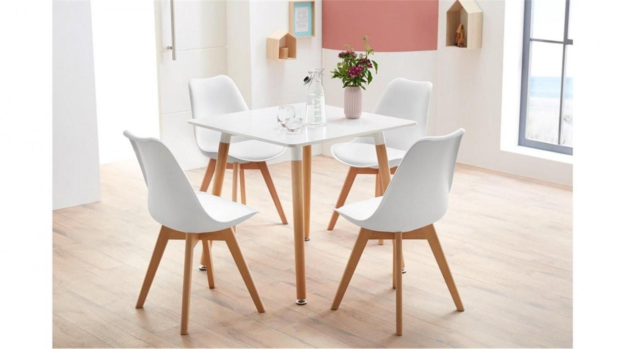 Essgruppe Mit Tisch Grönland 80X80 Und 4 Stühle Borkum Weiß von Esstisch Stühle Skandinavisch Photo