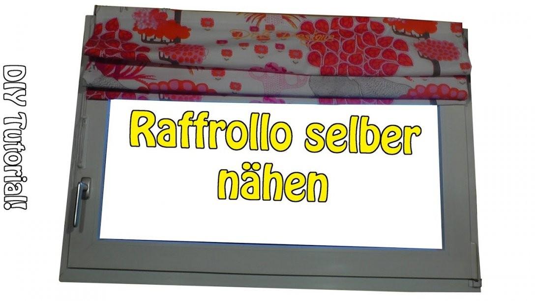 Faltrollo  Raffrollo Selber Nähen  Diy  Nähen Für Anfänger von Rollos Für Schräge Fenster Selber Bauen Bild