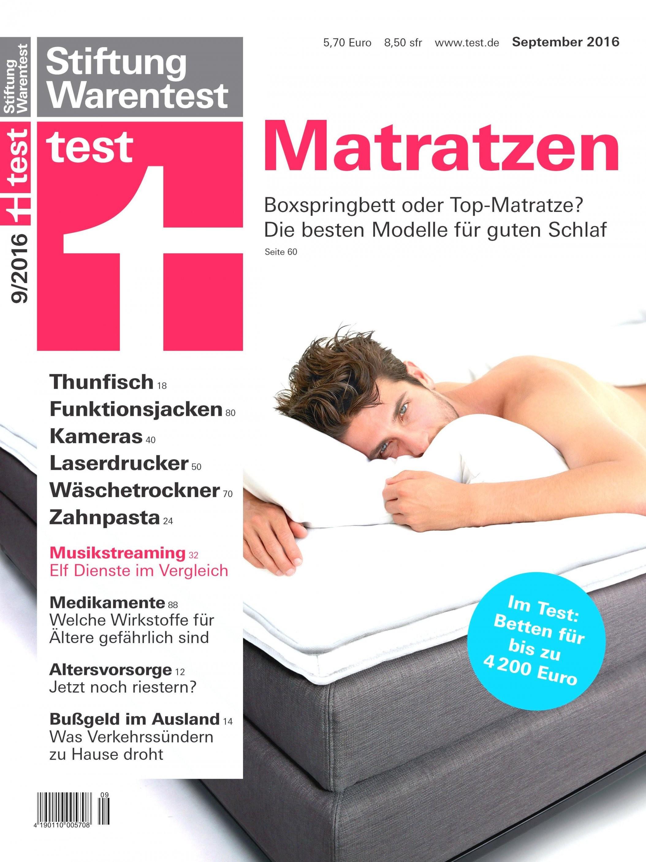 Fantastisch 24 Bodyguard Matratze Stiftung Warentest Design Ideen von Bett Matratzen Stiftung Warentest Bild