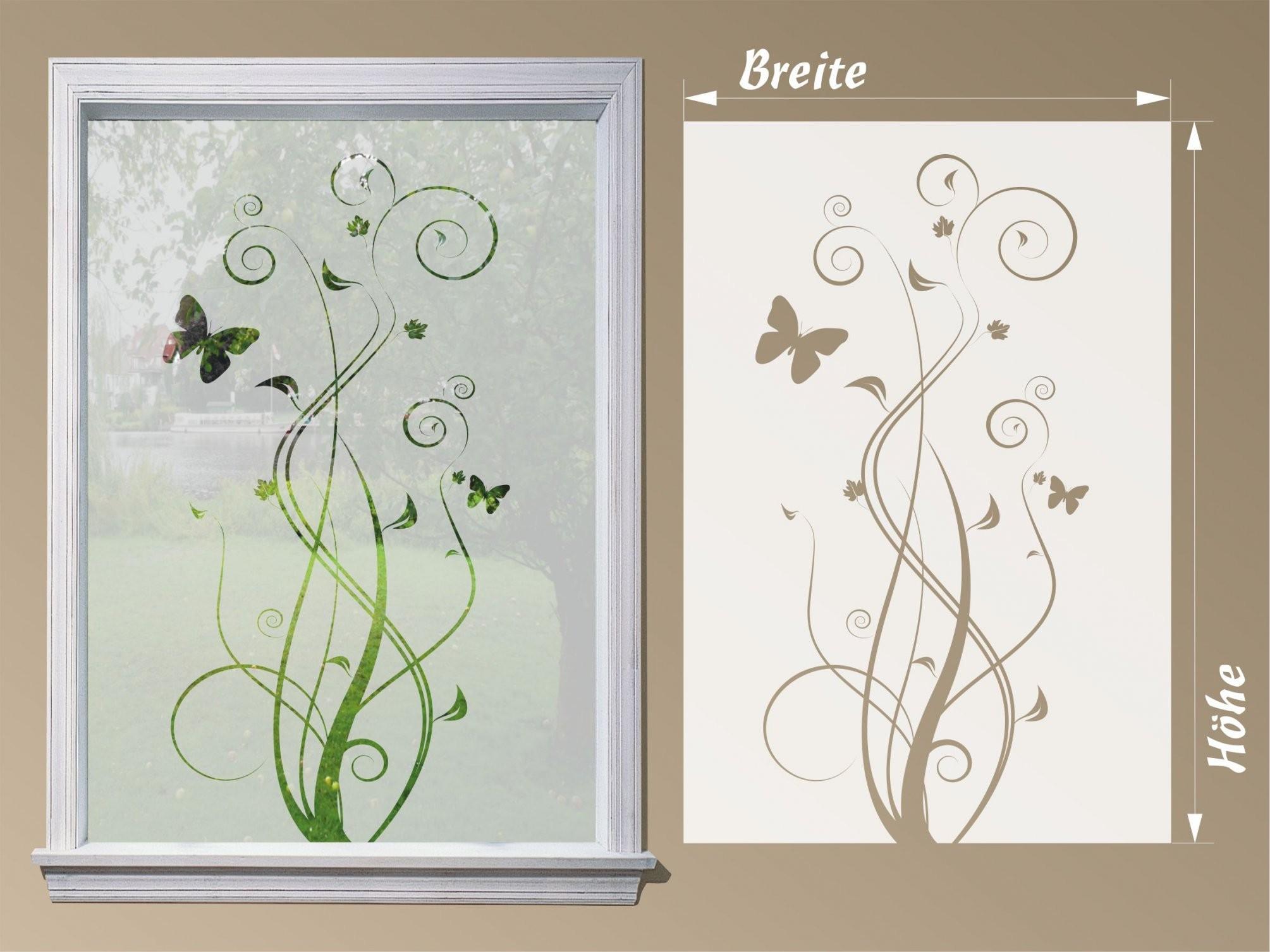 Fensterfolie Blume von Fensterfolie Sichtschutz Nach Maß Bild