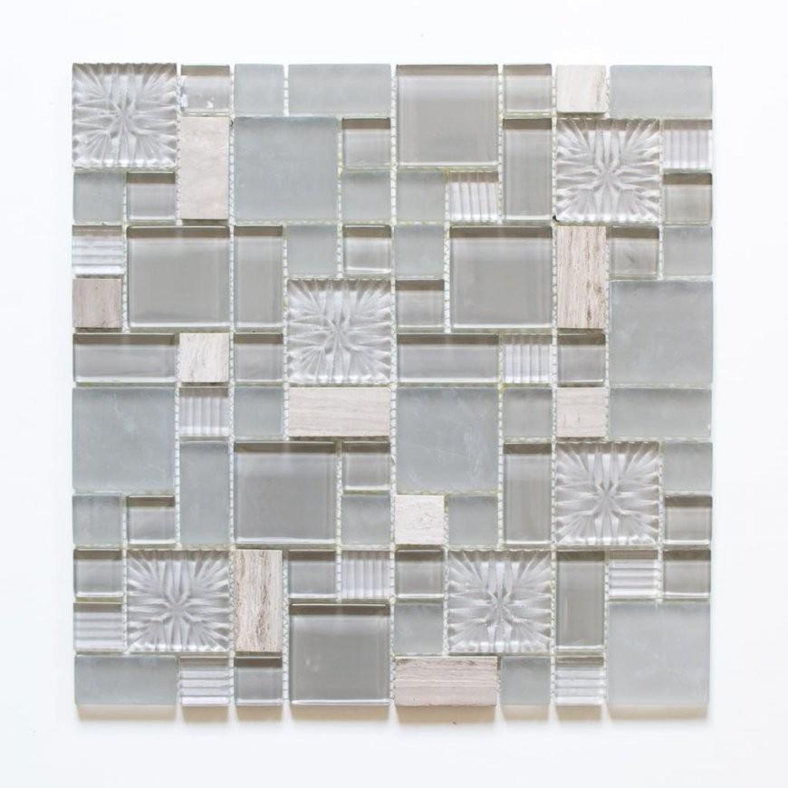 Fliesen Mosaik Mosaikfliese Grau Glas Stein G  Real von Mosaik Fliesen Außenbereich Bild