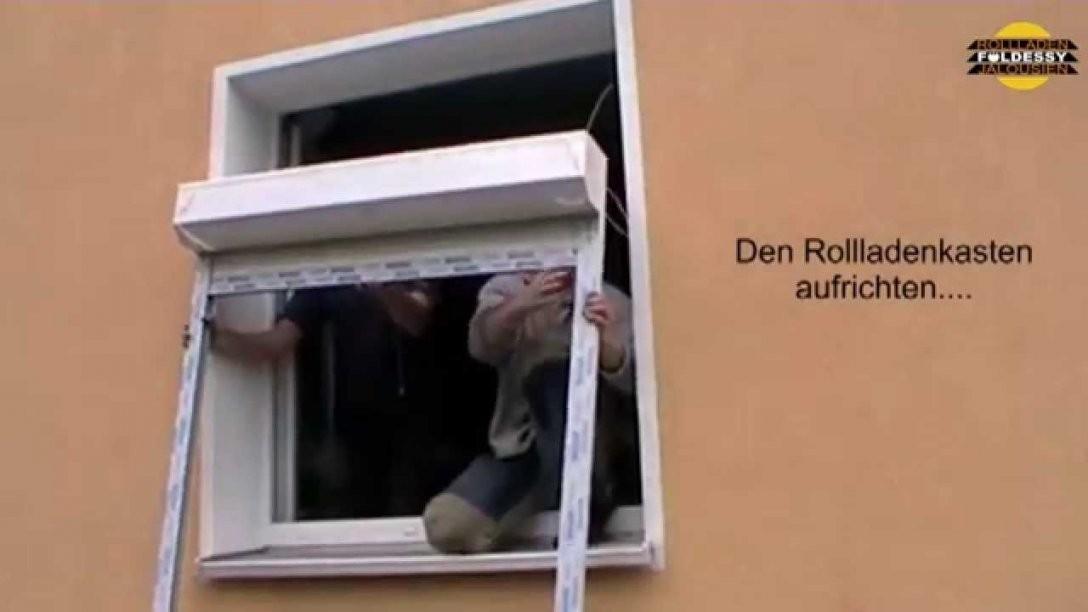 Foeldessy Rollladen Fertigelemente Selber Einbauen  Youtube von Fenster Rollos Außen Nachrüsten Photo