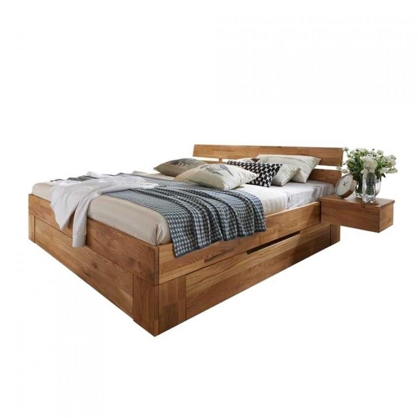 Formschöne Massivholzbetten Zu Günstigen Preisen  Wohnen von Bett 180X200 Massivholz Komforthöhe Bild