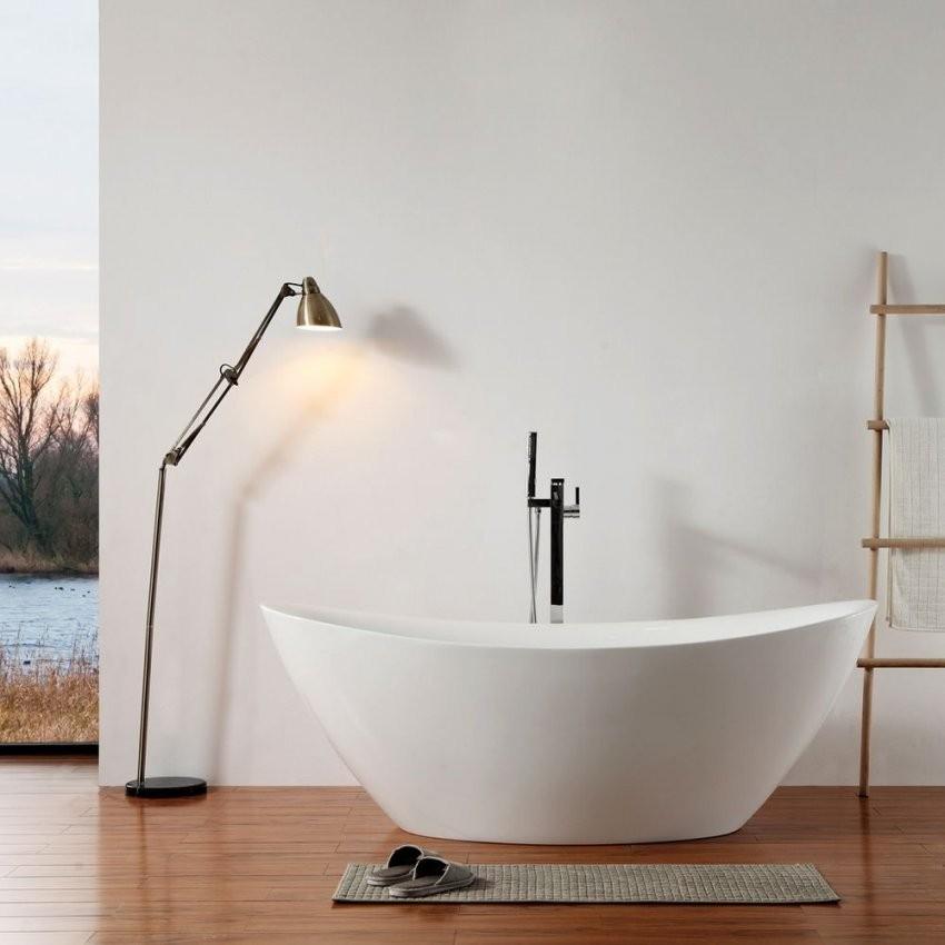 Freistehende Badewanne  Acrylbadewanne Freistehend  Bernstein Badshop von Halb Freistehende Badewanne Bild