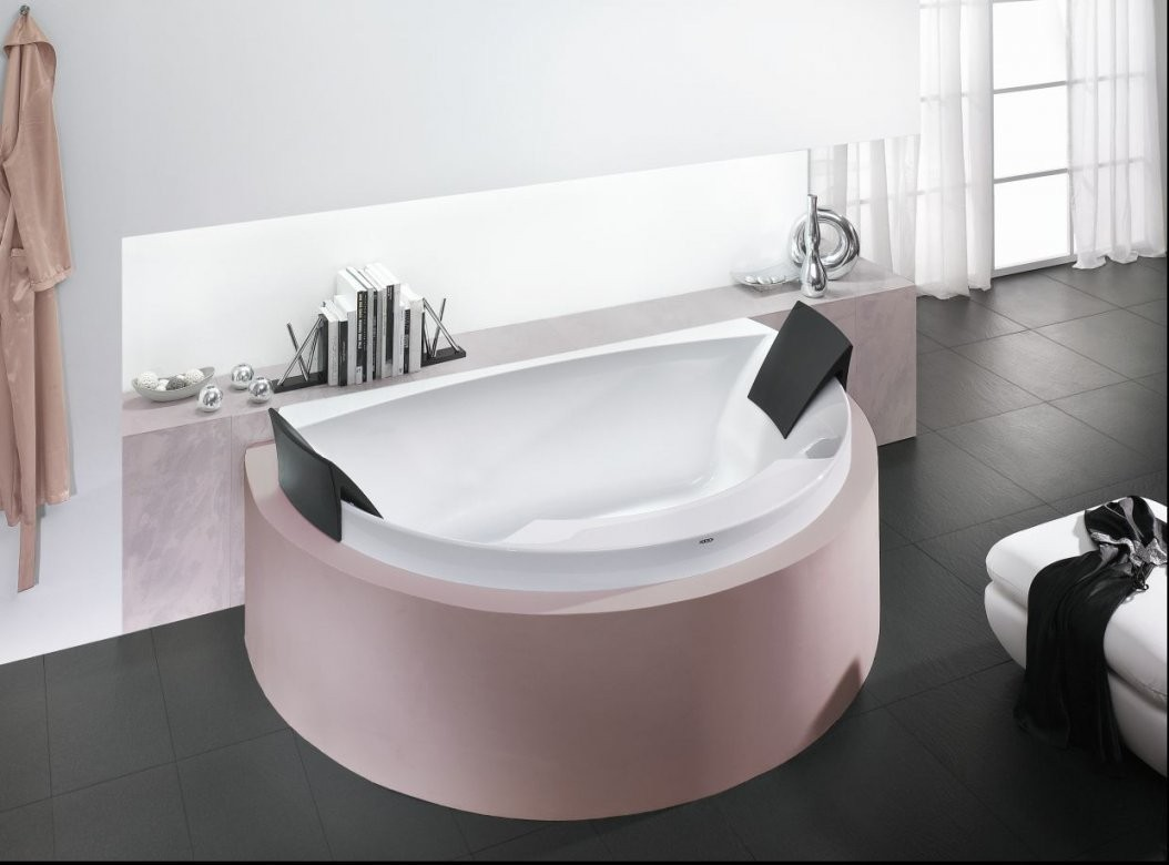 Freistehende Badewanne  Aus Acryl  Doppelt  Aviva 6618 von Freistehende Badewanne Hoesch Bild