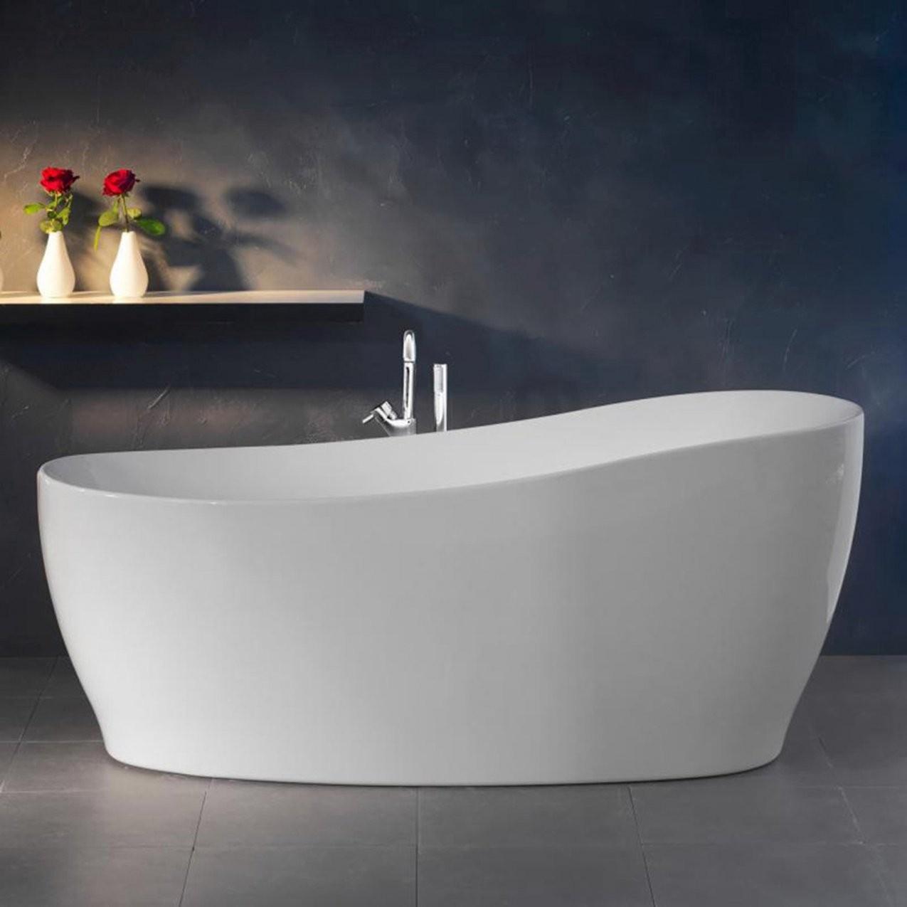 Freistehende Badewanne Aviva 180 Cm X 85 Cm Weiß Kaufen Bei Obi von Kleine Badewannen Freistehend Bild