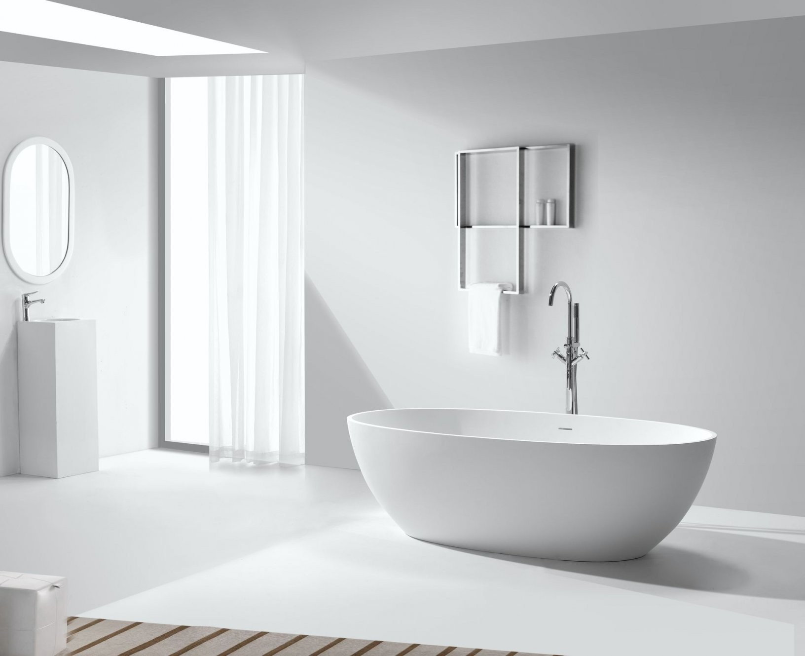 Freistehende Badewanne Bwix120 von Kleine Badewannen Freistehend Bild