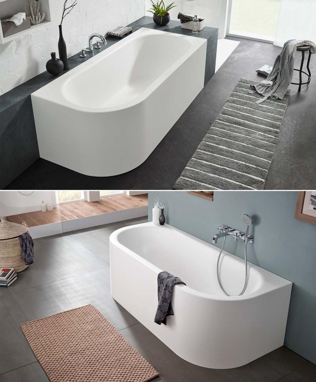 Freistehende Badewanne Eckig ▭ Für Ihr Perfektes Traumbad von Badewanne Emaille Freistehend Bild