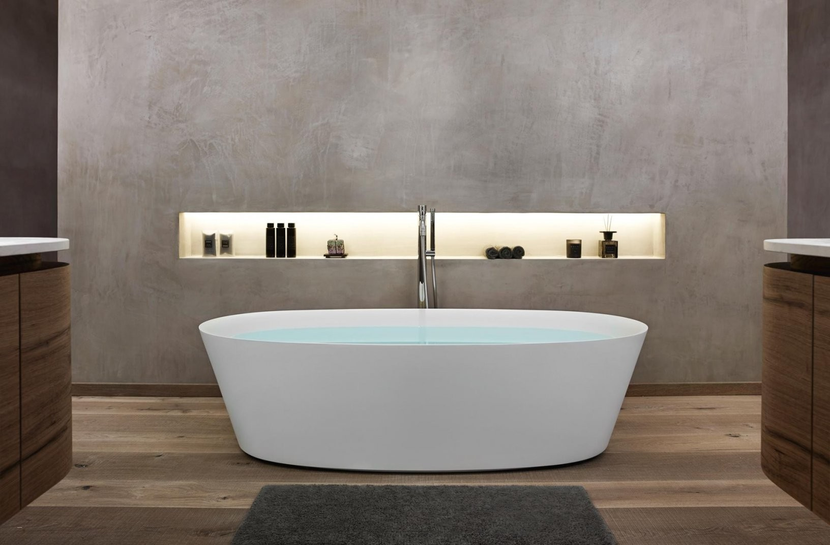 Freistehende Badewanne Eckig Innerhalb Freistehende Badewanne An Der von Freistehende Badewanne An Wand Bild