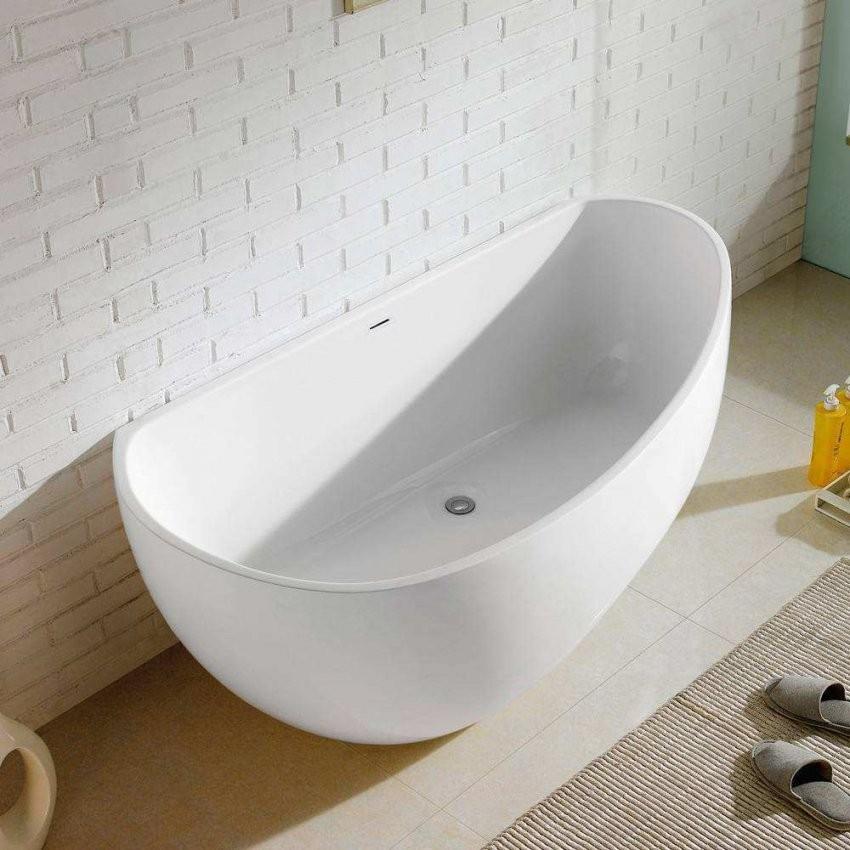 Freistehende Badewanne Guenstig  Badezimmer von Freistehende Acryl Badewanne Günstig Bild