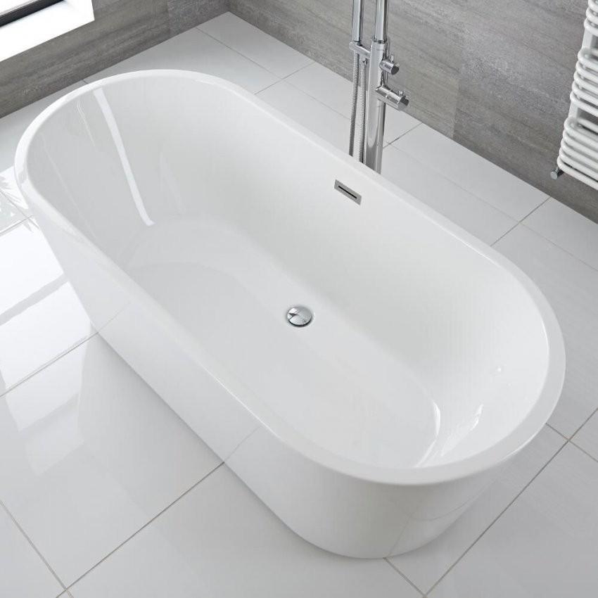 Freistehende Badewanne Oval 1695Mm  Covelly von Freistehende Ovale Badewanne Bild