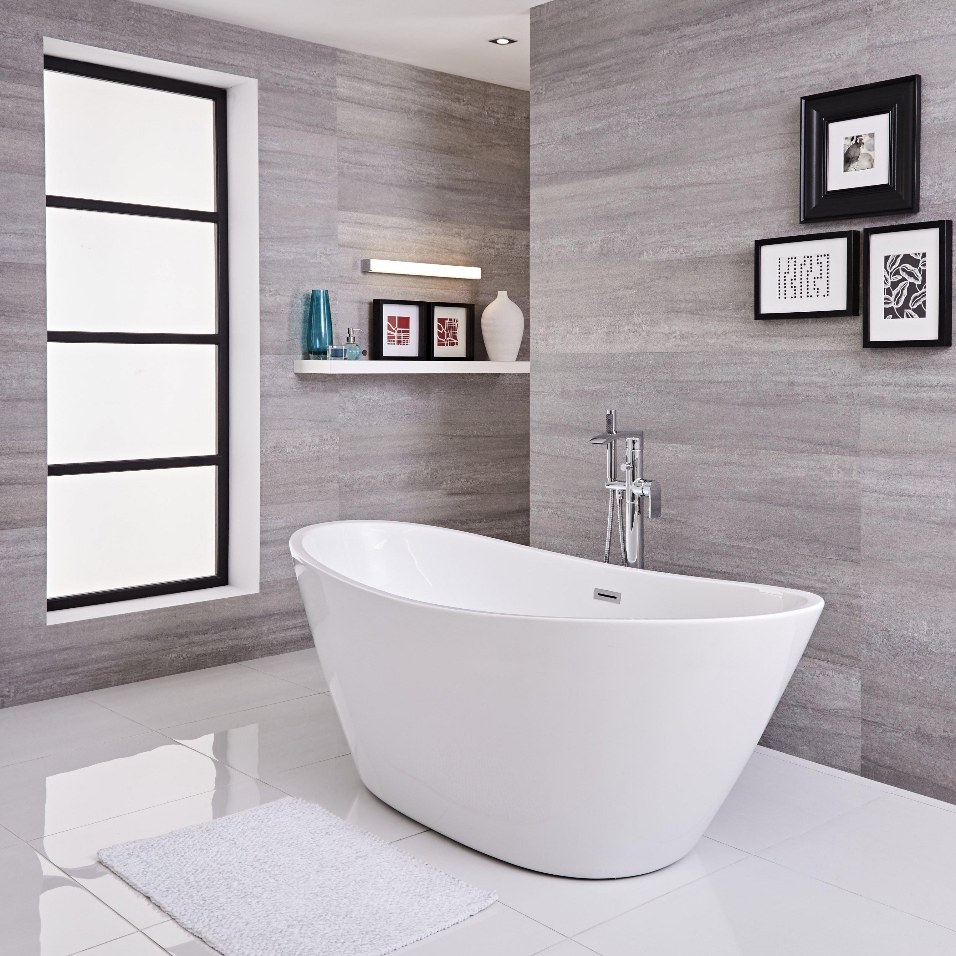 Freistehende Badewanne Oval 1700Mm  Ashbury von Ovale Freistehende Badewanne Photo