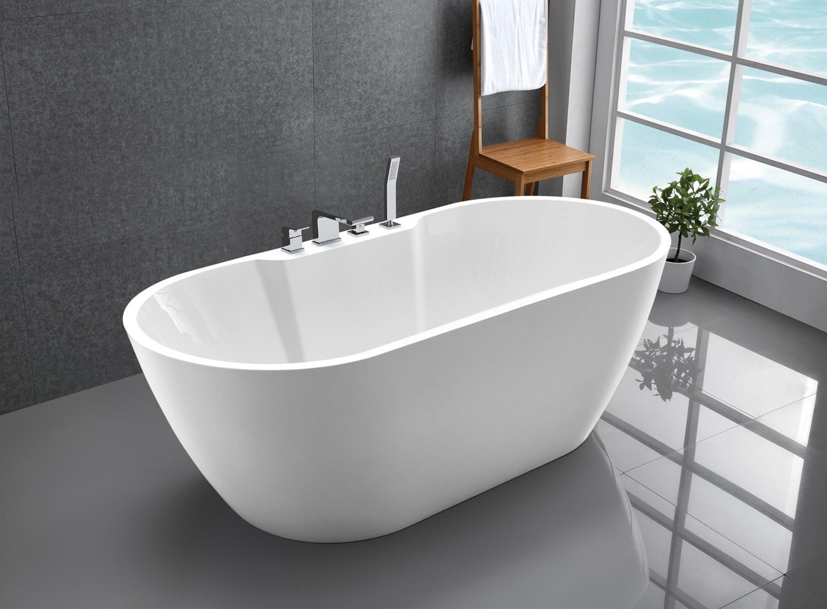 Freistehende Badewanne Standbadewanne Acryl Jazz Plus Weiß 170 X 80 von Badewanne Freistehend Preis Bild