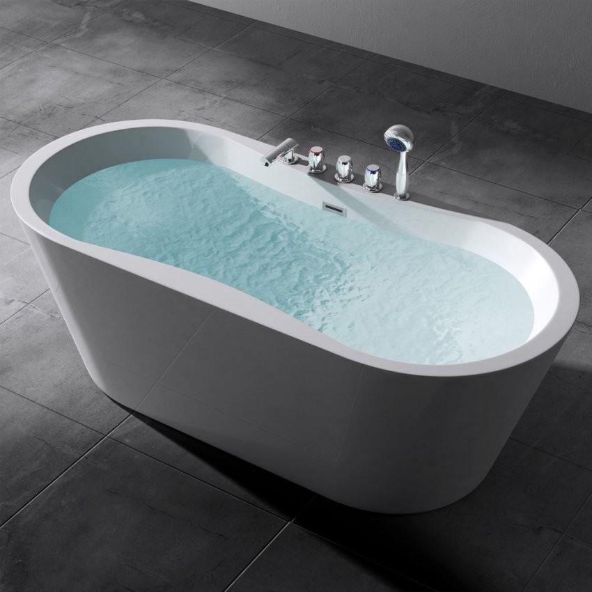 Freistehende Badewanne Wanne Standbadewanne Armatur 180 X 80 Vicenza von Freistehende Badewanne Mit Integrierter Armatur Photo