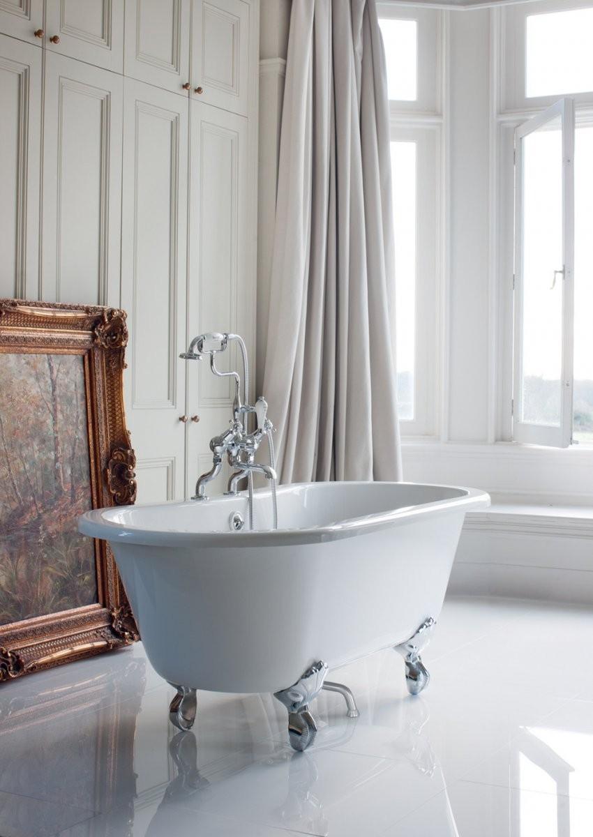 Freistehende Badewanne Windsor 1700  Traditionelle Badezimmer von Freistehende Badewanne Antik Photo
