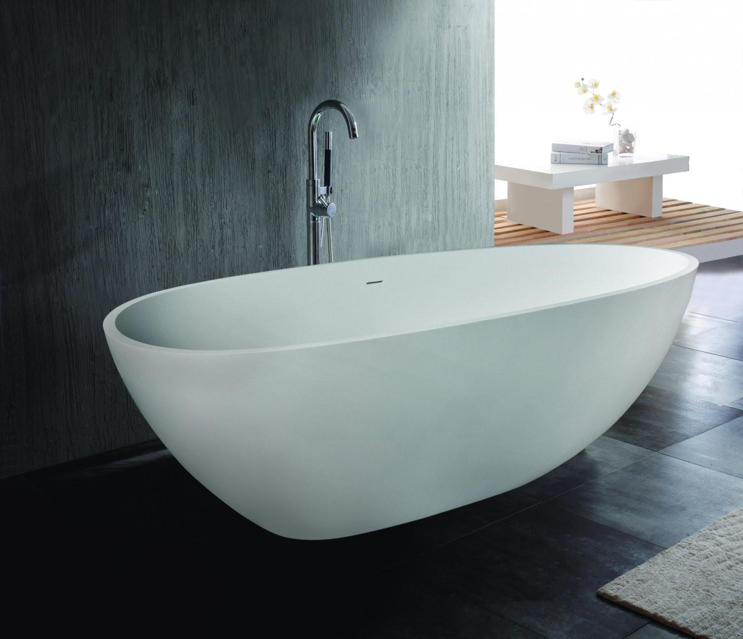 Freistehende Ovale Mineralguss Ei Badewanne 0101004 In Der Kategorie von Freistehende Ovale Badewanne Bild