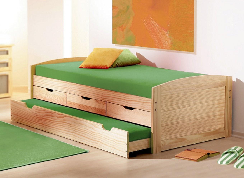 Funktionsbetten Mit 2 Schlafgelegenheit Kaufen  Betten von Bett Kiefer 120X200 Photo