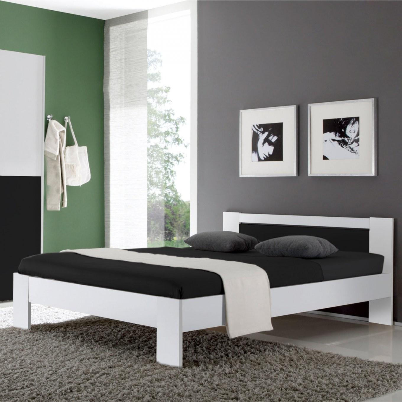 Futonbett Vega Bett In Weiß Und Schwarz Inkl Rollrost Und Matratze von Bett 120X200 Schwarz Photo