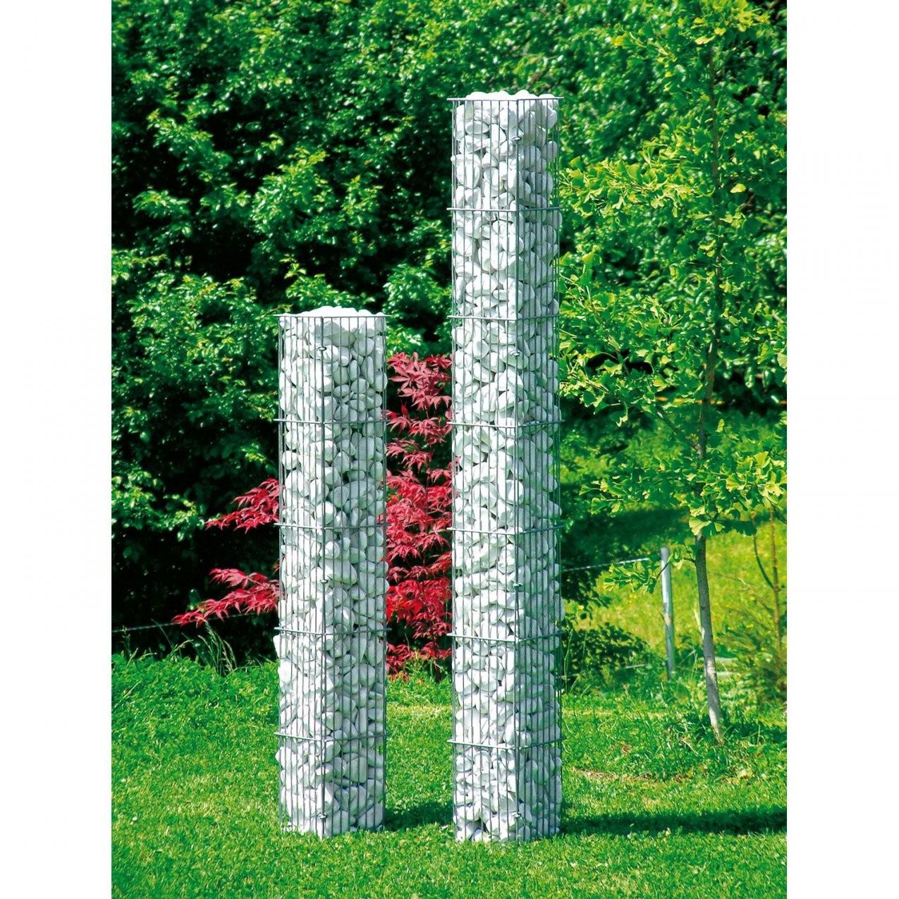 Gabionensteinsäule Eckig 175 Cm X 20 Cm X 20 Cm Kaufen Bei Obi von Steinsäule Garten Bild