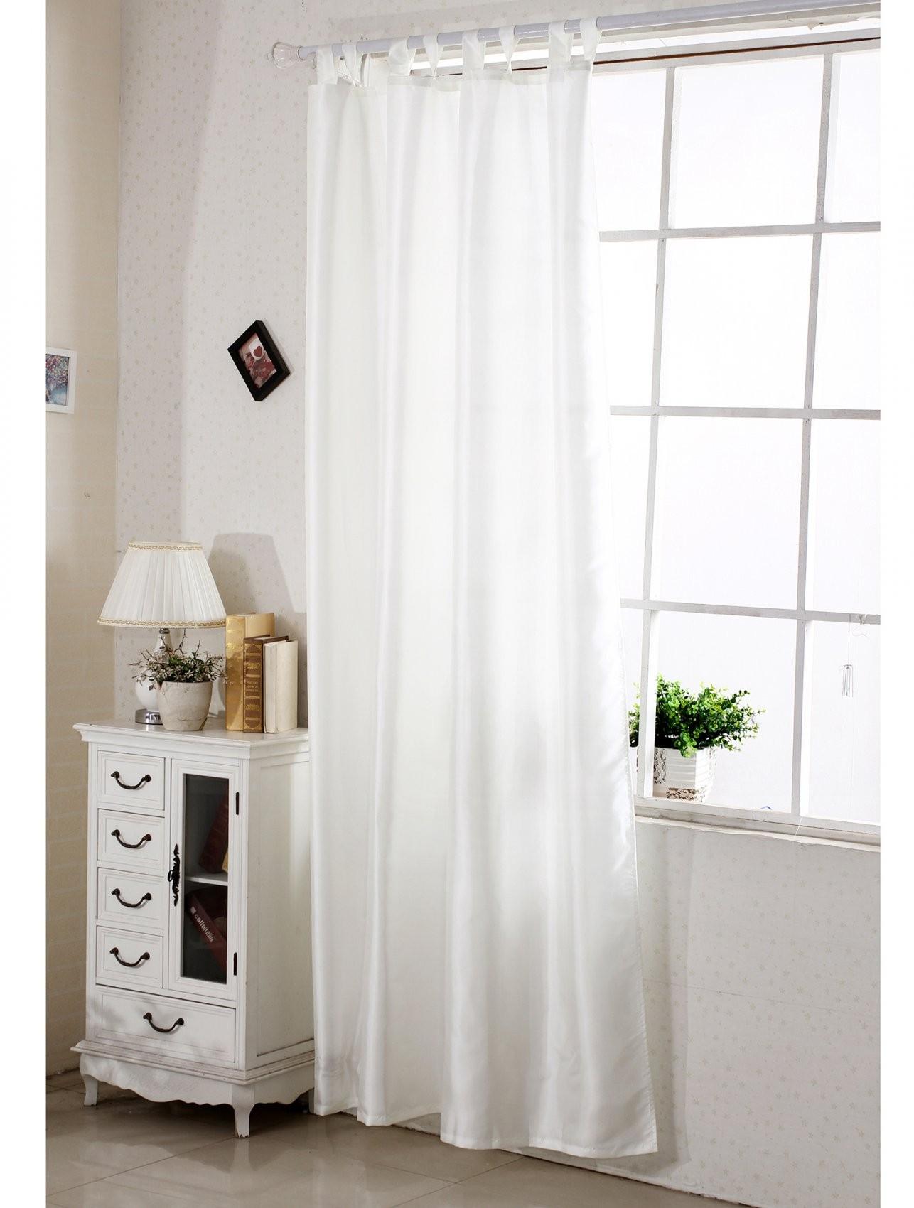 Gardinen Vorhang Halbtransparent Schlaufen  Ösen Schal Fenster von Halbtransparente Gardinen Vorhänge Bild