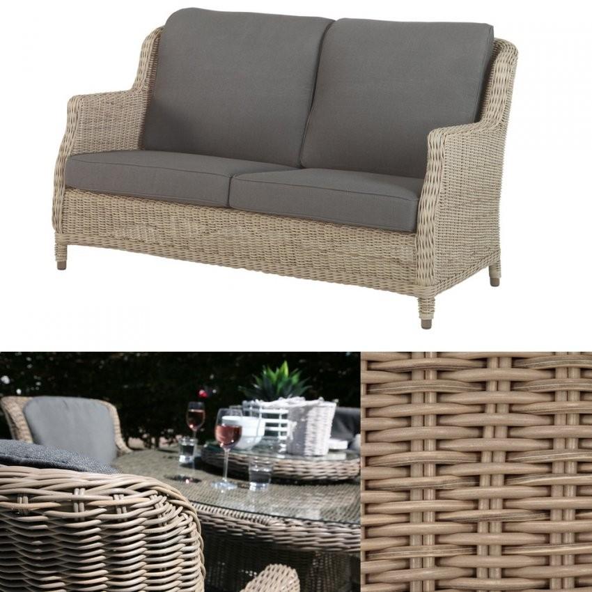Gartenbank 4Seasons Brighton Pure 2 Sitzer Sofa Geflecht Rattan von Polyrattan Sofa 2 Sitzer Photo