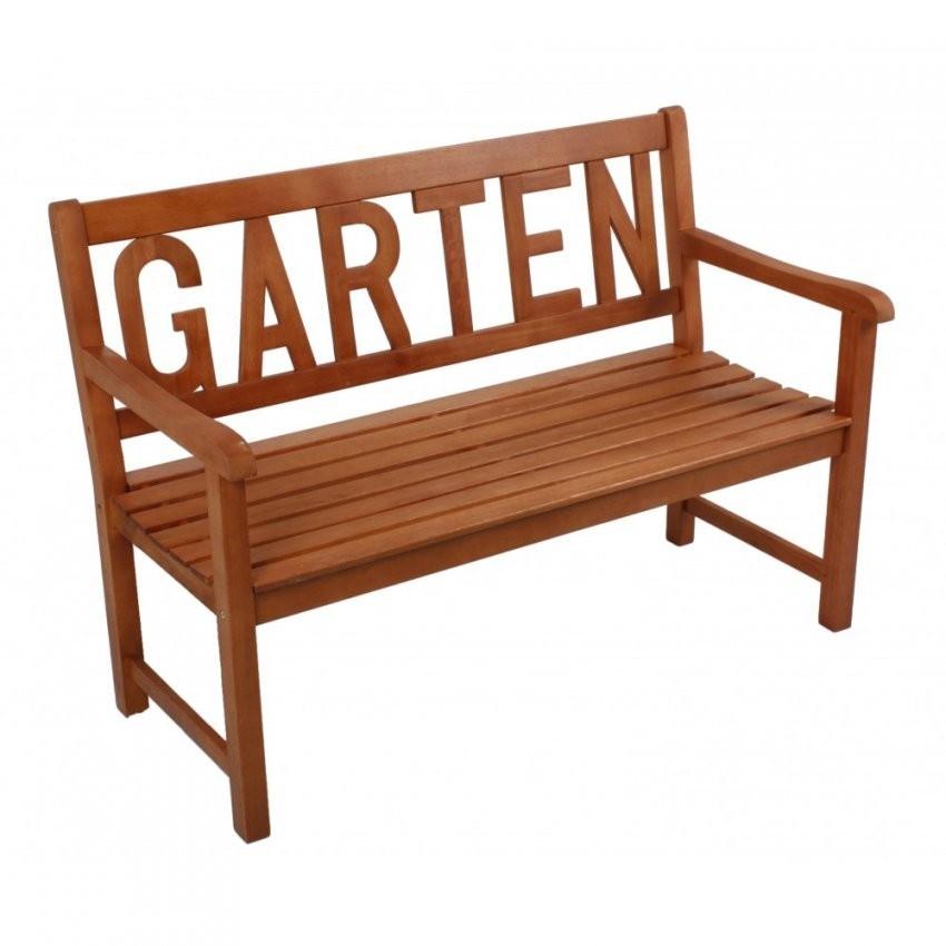 Gartenbank Holz 2Sitzer Schriftzug Rückenlehne Sitzbank Holzbank von Holzbank Für Garten Bild
