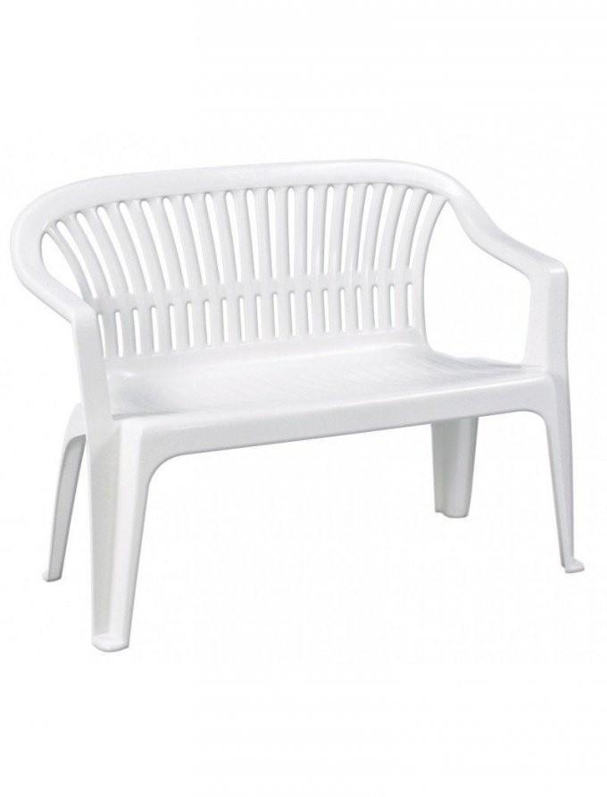 Gartenbank Kunststoff Weiß Progarden 2 Sitzig Vollkunststoffgestell von Garten Sitzbank Kunststoff Bild