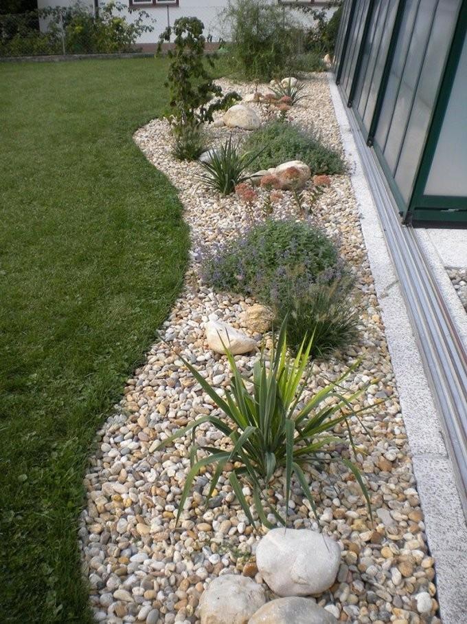 Gartengestaltung Mit Steinen Und Kies Bilder Impressum  Baum Best von Weiße Steine Garten Bild