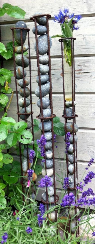 Gartengestaltung Verstärkende Stange Dekoration Steine  Dekoideen von Garten Dekorieren Mit Steinen Bild