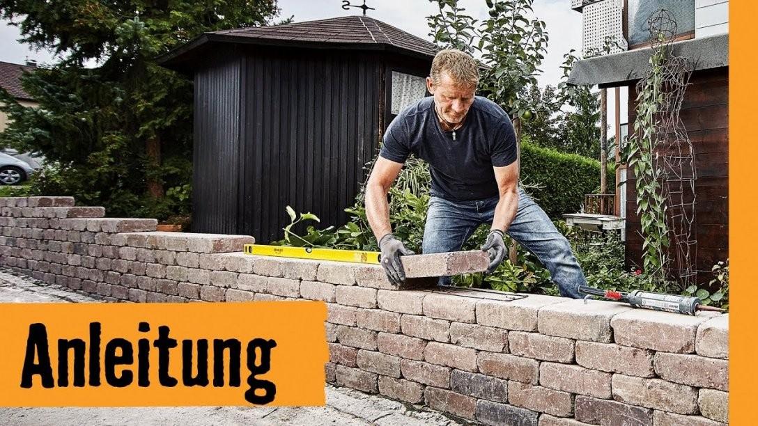 Gartenmauer Bauen Mit Mauersteinen  Hornbach Meisterschmiede  Youtube von Garten Mauern Steine Photo