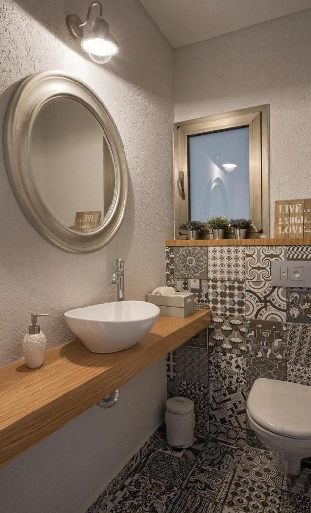 Gäste Wc Gestalten  16 Schöne Ideen Für Ein Kleines Bad von Waschbecken Kleines Gaeste Wc Photo