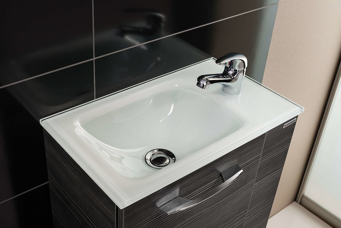 Gäste Wc – Waschbecken Spiegel Und Möbel Von Fackelmann von Kleine Waschbecken Gäste Wc Bild