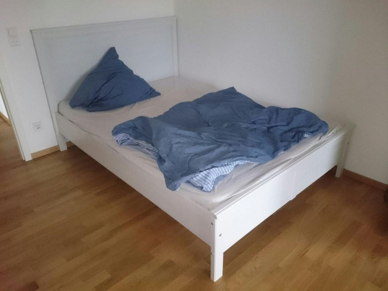 Gebraucht Ikea Bett 160X200 Mit Matratze & Lattenrost In 63067 von Bett 160X200 Gebraucht Photo