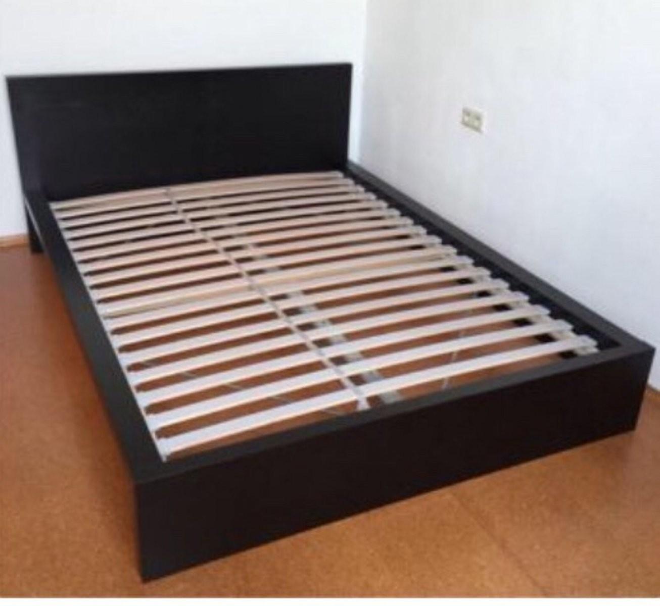 Gebraucht Malm Bett Flach Schwarz 140X200 In 6020 Innsbruck Um von Bettgestell 140X200 Schwarz Bild