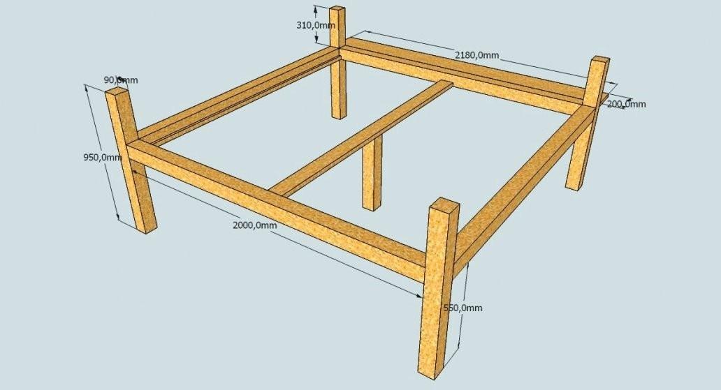 Genial Bauplan Bettgestell Selber Bauen Massivholz Bett A 140X200 von Bauplan Bett 200X200 Photo