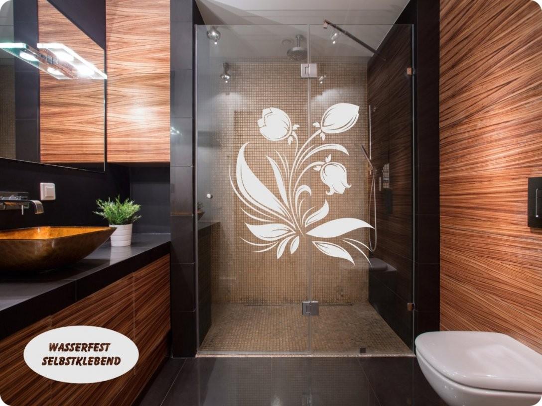 Glasdekor Sichtschutz Bad Wasserfeste Folie Dusche Fenster Tür von Fensterfolie Sichtschutz Bad Bild