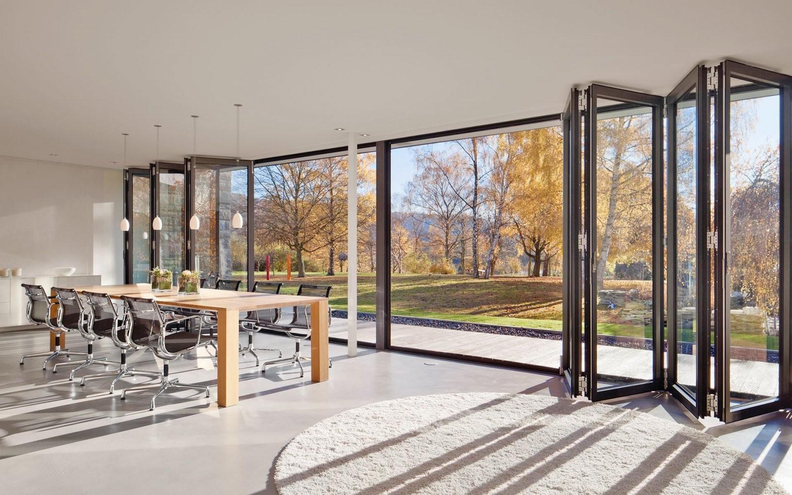 Glasfaltwand  Fenster I Windows In 2018  Pinterest  House Doors von Terrassen Falttüren Selber Bauen Bild
