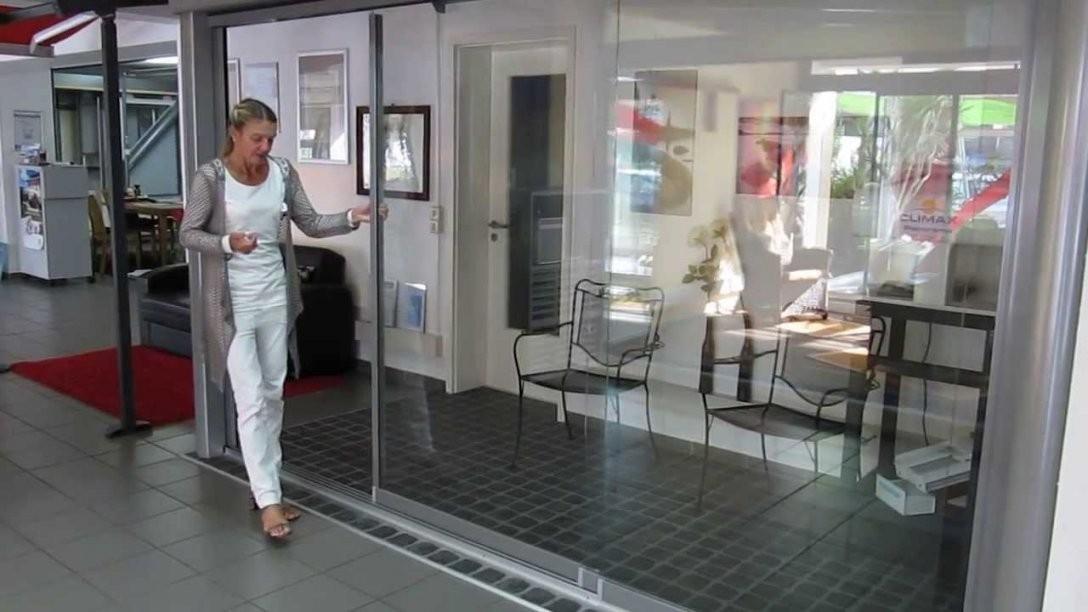 Glasfaltwände  Glashaus  Youtube von Terrassen Falttüren Selber Bauen Photo