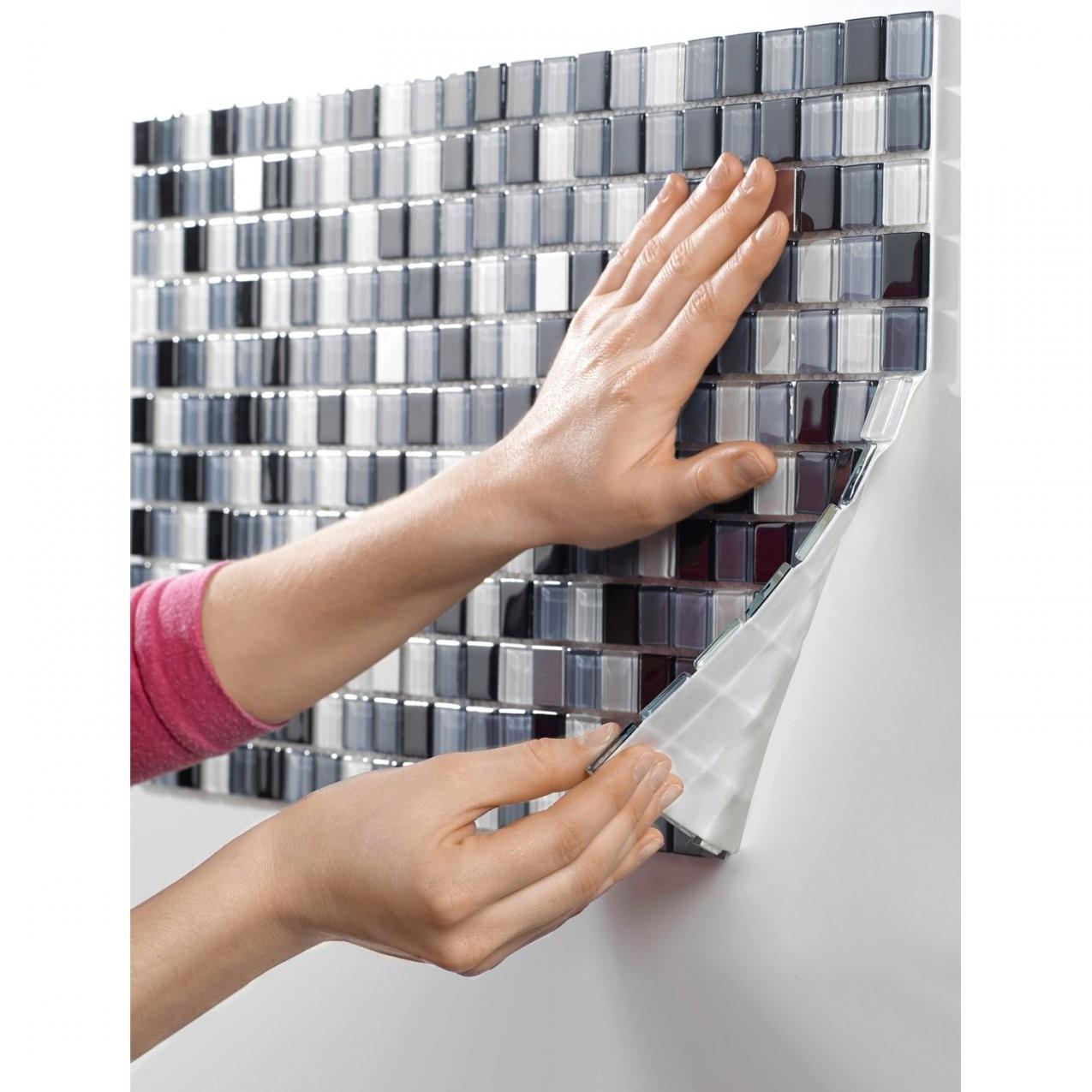 Glasmosaikmatte Schwarz Selbstklebend 30 Cm X 30 Cm Kaufen Bei Obi von Mosaik Fliesen Obi Photo