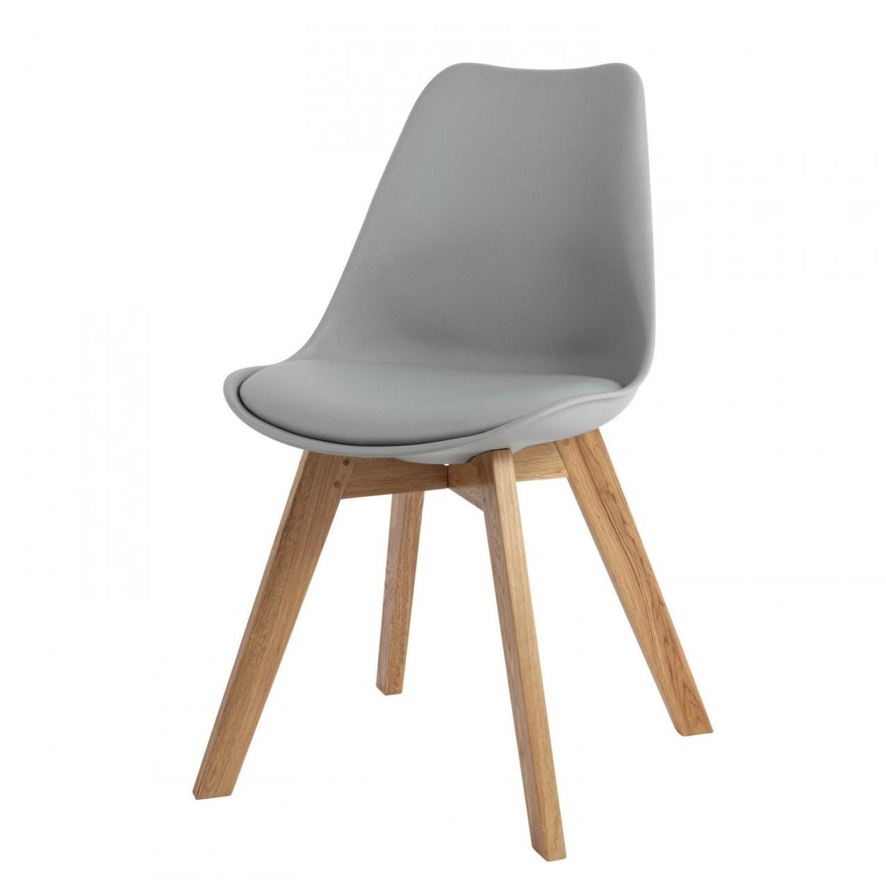 Grauer Skandinavischer Stuhl Mit Massiver Eiche Maisons Du Monde New von Stühle Skandinavischer Stil Photo