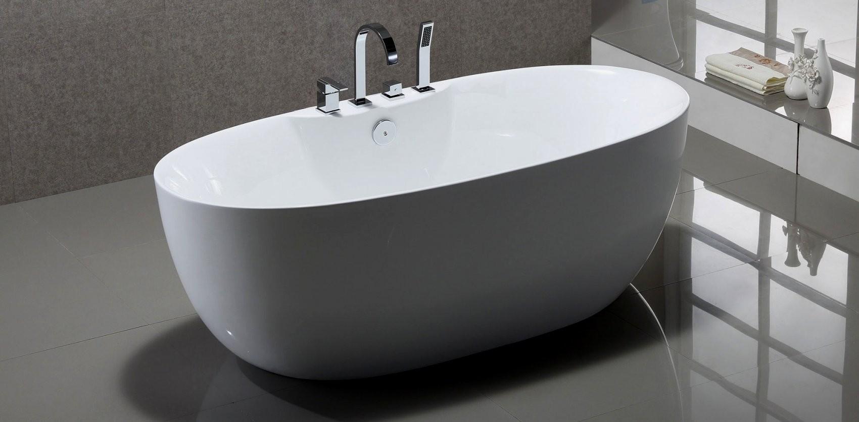 Groß Freistehende Badewanne Mit Armatur Gro C3 9F Waschbecken 88882 von Badewanne Armatur Freistehend Photo